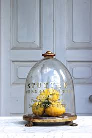 19th century english glass cheese dome
