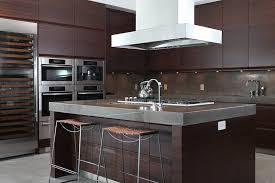 dark wood modern kitchen cabinets. Dark Wood Modern Kitchen With Stylish Concrete Counters Cabinets C