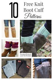 here are 10 free knit boot cuff patterns for women including cable knit boot cuffs