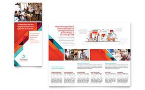 Microsoft Office Tri Fold Brochure Template Application Software Developer Tri Fold Brochure Template Word