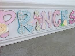 custom made girls nursery wall decor art wood letters pink white blue flowers hand painted