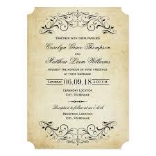 Wedding Invitatiins Vintage Wedding Invitations Elegant Flourish Zazzle Com