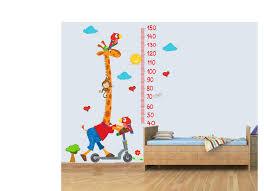 Giraffe Chart Giraffe Child Height Chart Vinyl Wall Chart 3d Art Stickers Poster Bedroom Boys Girls