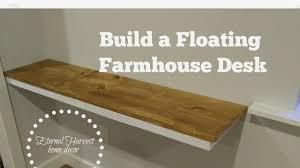 How to build a farmhouse floating desk, DIY