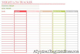 Weight Tracker Chart Printable Weight Loss Challenge Template