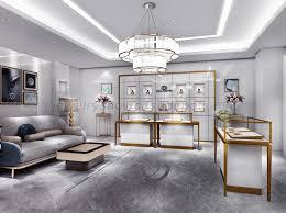 Indian Jewellery Shop Design Luxury Retail Jewellery Display Cabinets Jewelry Showcase