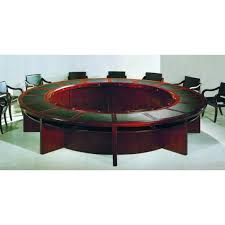hau met 601 luxury round boardroom table in mahogany