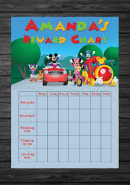 Mickey Mouse Job Chart 18 True To Life Mickey Mouse Sticker Chart