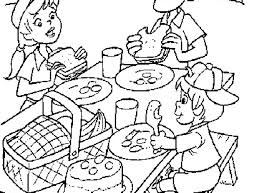 Small Picture Picnic Coloring Page 17 Pictures Colorinenet 3923