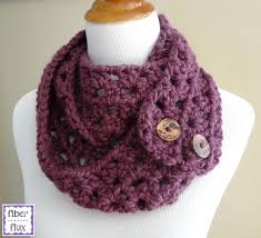 Crochet Scarf Patterns Bulky Yarn Simple Fiber Flux Free Crochet PatternFiona Button Slouch