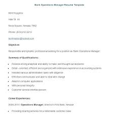 Bank Sample Resume Bank Operations Manager Resume Template Download ...