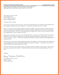Sample Student Recommendation Letter Fo Letter High School Student