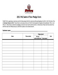 Walkathon Pledge Form Template Invitation Templates