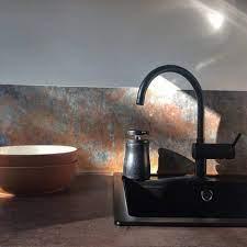 Bronze Copper Kitchen Walls Backsplash ...