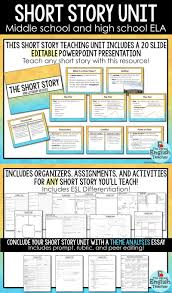 teaching the short story a unit for all short stories high  short story unit for middle school and high school english class includes an editable powerpoint