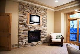 modern faux stone fireplace