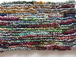 i stopped knitting when i ran out of strips i thought about cutting some from yardage so i could continue but that seemed silly creating ss from