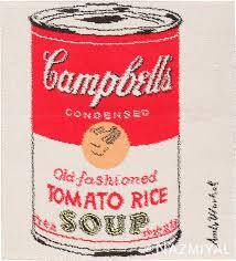 vintage andy warhol campbell soup rug 47694 nazmiyal