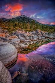 Temperate Dawn, Lake Tahoe at sunrise, by Dustin Montgomery..... | Lake  photography, Beautiful nature, Nature scenes