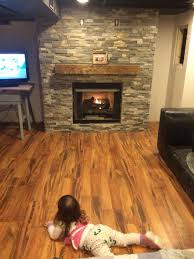 our amazing basement fireplace stone from menards laminate flooring from menards ventless gas