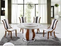 Modern Round Table Furniture With Chairs For Dining Decor My Aashis