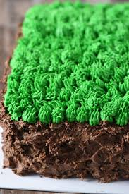 Creeper Cake Design Super Easy Grass Block Minecraft Cake Recipe