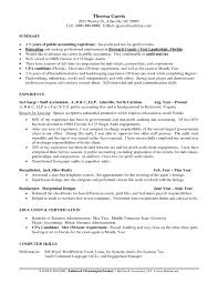 Sample Resume With Certifications New Job Resume Certified Public