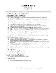 Resume Physical Therapist Federal Physical Therapist Resume Resume ...