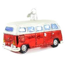 Volkswagen Bus Samba Camper Van Ornament Set of 3 | NOVA68.com
