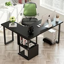 l shaped computer desk. Fine Shaped Tribesigns Modern LShaped Desk 360 Free Rotating Corner Computer Desk  Writing To L Shaped A