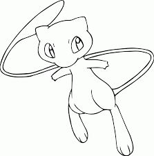 Pokemon Mew Coloring Page Coloring Home