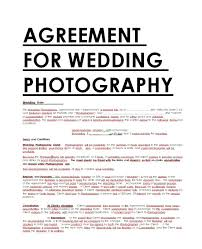 Photography Services Contract Cool Photography Contract Sample Contracts Contract Templates