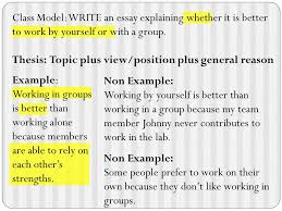 set the next available page in your notes section in the following  non example working by yourself is better than working in a group because my team