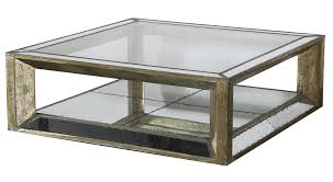 Mirrored Trunk Coffee Table Old Style Square Mirrored Coffee Table With Reclaimed Wooden Frame
