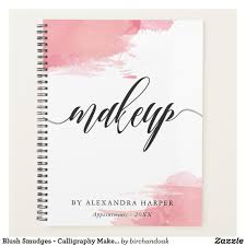 blush smudges calligraphy makeup artist planner chic spiral planner or appointment book for