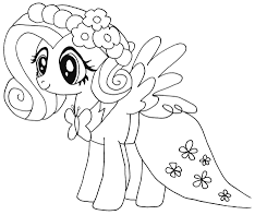 My Little Pony Fluttershy Kleurplaat Coloring Pages My Little