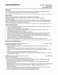 Civil Engineering Resume Examples Inspirational Environmental