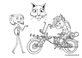 Small Picture Coraline Coloring Pages