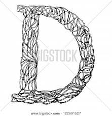 herbarium font type herbal vector letters letter d can be used as