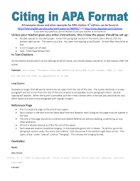 apa citation essay example of apa citation in paper apa citation handout writing