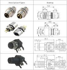 m8 circular connector 3 pins ip67 pcb panel mount er type m8 circular connector 3 pins ip67 pcb panel mount er type waterproof plug