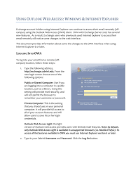 Outlook Light Version Using Outlook Web Access Windows Internet Explorer