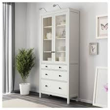 furniture home ikea hemnes bookcase glass door cabinet with drawers white stain remarkable tures solid wood