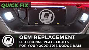 Installing Led License Plate Lights Dodge Ram Install Led License Plate Lights