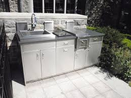 stainless steel outdoor kitchen with custom stainless steel cabinets