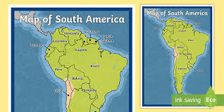 Map Of South America Map South America Continent Countries