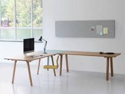 wooden office desks. Modren Desks Lshaped Lacquered Wooden Office Desk RAIL  To Wooden Office Desks C
