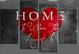 on grey red wall art with home is where the heart is canvas wall art print 40 inch red grey