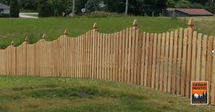 Dog Eared Scalloped Picket Fence Cedar Rustic Fence Co