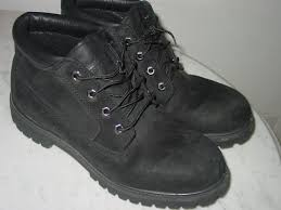 timberland leather style black chukka boots men s shoes black